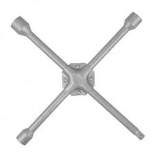 Фото - Ключ баллонный крестовой укрепленный 14' x 355 мм, D=16 мм, 17; 19; 21 мм INTERTOOL HT-1604
