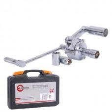 Фото - Ключ баллонный роторный для легковых автомобилей 180 мм, передаточное отношение 1:16, макc. крут. момент 1000 Nm INTERTOOL XT-0003