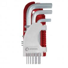Фото - Набор Г-образных шестигранных ключей 9 шт., 1,5-10 мм Small INTERTOOL HT-1801
