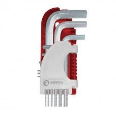 Фото - Набор Г-образных шестигранных ключей 9 шт., 1,5-10 мм, S2, PROF INTERTOOL HT-1803