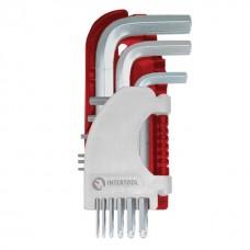 Фото - Набор Г-образных шестигранных ключей 9 шт. с шарообразным наконечником, 1,5-10 мм, S2, PROF INTERTOOL HT-1813