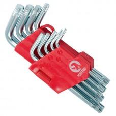 Фото - Набор Г-образных ключей TORX 9 шт, Т10-Т50, Cr-V, Small INTERTOOL HT-0607
