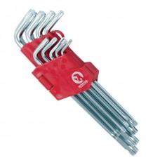Фото - Набор Г-образных ключей TORX 9 шт, Т10-Т50, Cr-V, Big INTERTOOL HT-0608