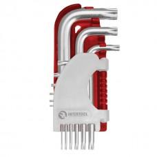 Фото - Набор Г-образных ключей TORX 9 шт., Т10-Т50, Cr-V, Small INTERTOOL HT-1821