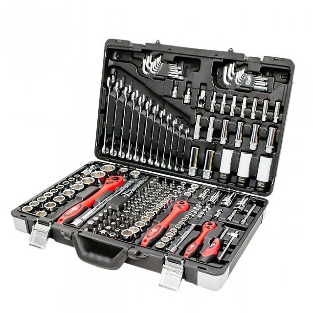 Фото №1 - Профессиональный набор инструментов, 1/4' & 3/8' & 1/2', 176 ед. INTERTOOL ET-7176