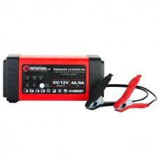 Фото - Зарядное устройство 6/12В, 4/8A, 230В, LED-индикация INTERTOOL AT-3018
