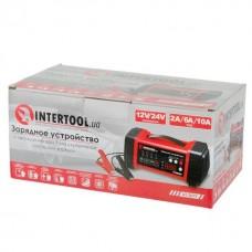 Фото - Зарядное устройство 12/24В, 2/6/10А, 2/6A, 230В, дисплей INTERTOOL AT-3019