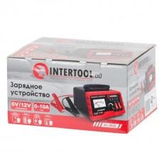 Фото - Зарядное устройство 6/12В, регулировка силы тока 0-10А, 230В INTERTOOL AT-3020