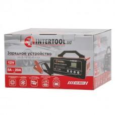 Фото - Зарядное устройство 12В, 5/10/15/20А, 230В, режим реанимации, десульфатации аккумулятора INTERTOOL AT-3021