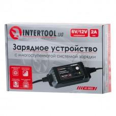 Фото - Зарядное устройство 6/12В, 2А, 230В, максимальная емкость заряжаемого аккумулятора 1.2-60 а/ч INTERTOOL AT-3022