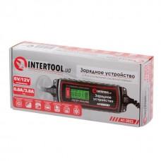 Фото - Зарядное устройство 6/12В, 0.8/3.8А, 230В, зимний режим зарядки, дисплей, максимальная емкость заряжаемого аккумулятора 1.2-120 а/ч INTERTOOL AT-3023