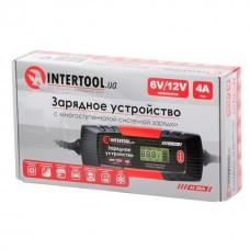 Фото - Зарядное устройство 6/12В, 1/2/3/4А, 230В, зимний режим зарядки, дисплей, максимальная емкость заряжаемого аккумулятора 1.2-120 а/ч INTERTOOL AT-3024