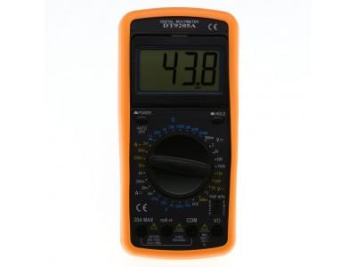 Мультиметр DT9205A: обзор технических характеристик и настройки