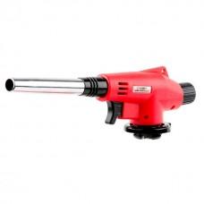 Фото - Горелка газовая, пьезозажигание на курке, регулятор, удлиненное сопло INTERTOOL GB-0022