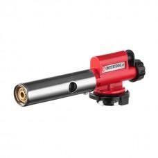 Фото - Горелка газовая, пьезозажигание, регулятор, цельнометаллический корпус. INTERTOOL GB-0027