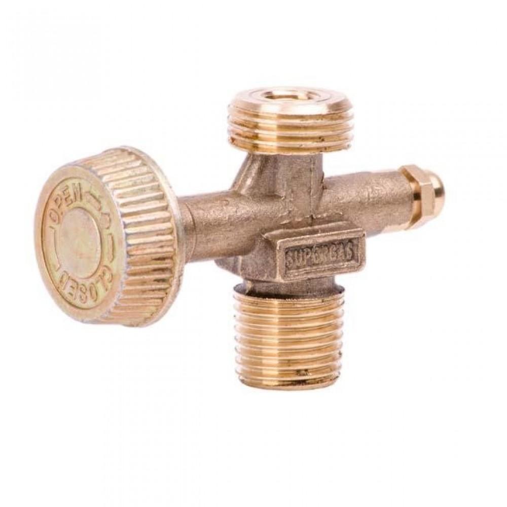 Фото №1 - Вентиль для газовых баллонов и горелок INTERTOOL GS-0009