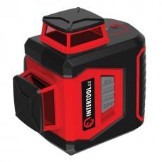 Фото - Уровень лазерный 360 град, 3 лазерные головки, зеленый лазер INTERTOOL MT-3067