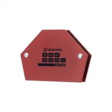 Фото - Держатель магнитный для сварки трапеция, 30°, 45°, 60°, 75°, 90°, 135°, 11 кг, 100×68×14 мм INTERTOOL MW-0001