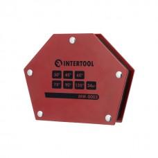 Фото - Держатель магнитный для сварки трапеция, 30°, 45°, 60°, 75°, 90°, 135°, 34 кг, 145×110×25 мм INTERTOOL MW-0003