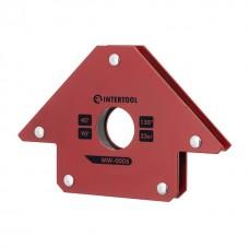 Фото - Держатель магнитный для сварки стрела, 45°, 90°,135°, 23 кг, 90×100×17 мм INTERTOOL MW-0005