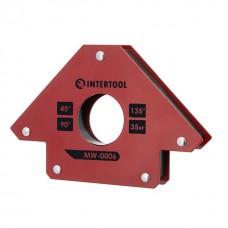 Фото - Держатель магнитный для сварки стрела, 45°, 90°,135°, 35 кг, 110×120×25 мм INTERTOOL MW-0006