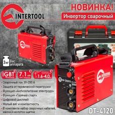 Фото - Инвертор сварочный 230 В, 30-200 А, 7,1 кВт INTERTOOL DT-4120