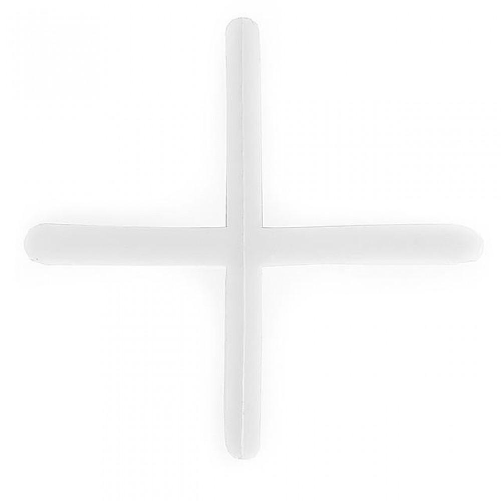 Фото №1 - Набор дистанционных крестиков для плитки 2,0 мм / 200 шт INTERTOOL HT-0351