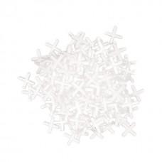 Фото - Набор дистанционных крестиков для плитки 4 мм / 100 шт INTERTOOL HT-0354