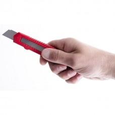 Фото - Нож прорезной с отломным лезвием 18 мм INTERTOOL HT-0500
