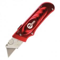 Фото - Нож с выдвижным трапециевидным лезвием, металлический корпус INTERTOOL HT-0515