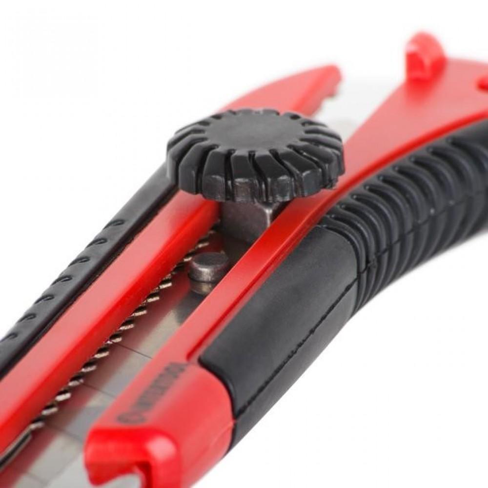 Фото №1 - Нож с металлической направляющей 25 мм INTERTOOL HT-0526