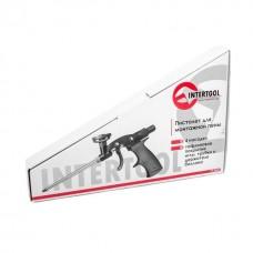 Фото - Пистолет для монтажной пены с тефлоновым покрытием иглы, трубки и держателя баллона + 4 нас. INTERTOOL PT-0605
