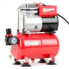 Фото - Компресcор безмасляный 4 л, 0,3 кВт, 220 В, 3,2атм, 50л / мин INTERTOOL PT-0001