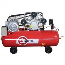 Фото - Компрессор 100 л, 4 кВт, 380 В, 8 атм, 600 л/мин. 3 цилиндра INTERTOOL PT-0036