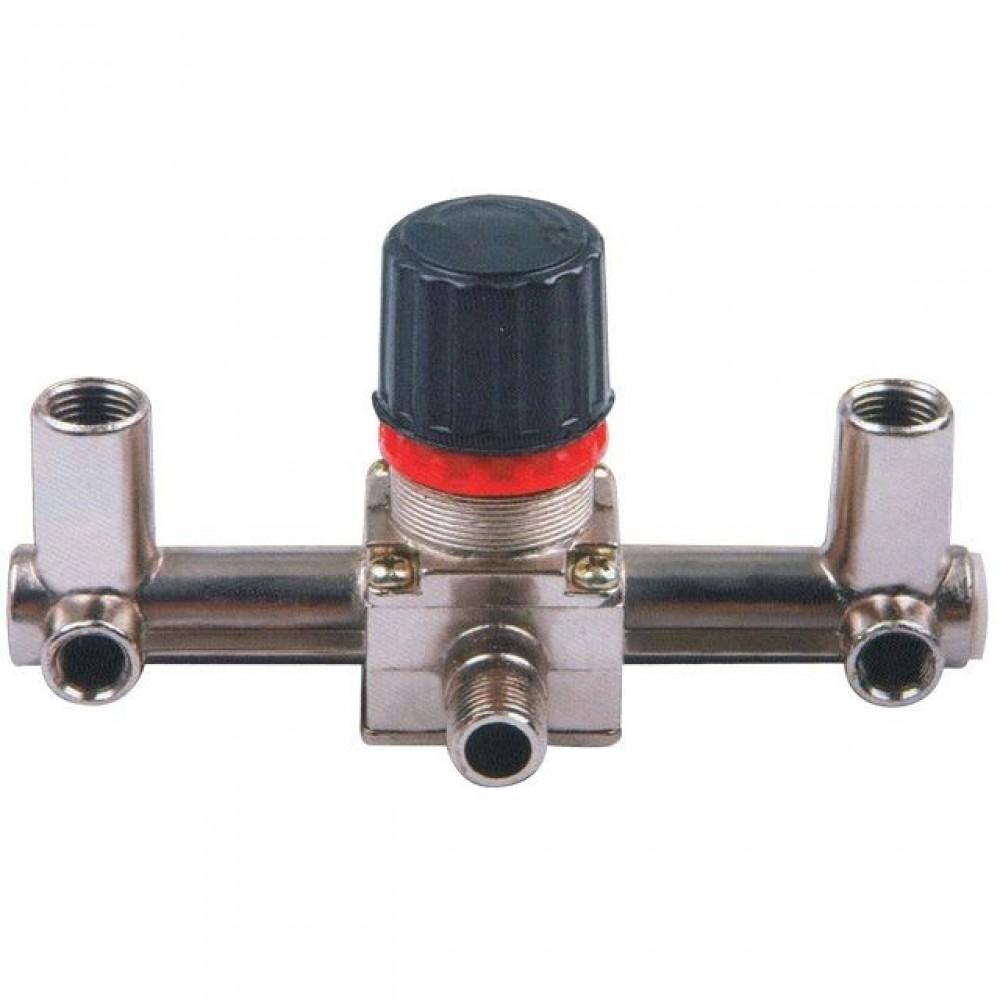 Фото №1 - Контрольно-распределительный блок компрессора с регулятором давления INTERTOOL PT-9091
