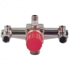 Фото - Контрольно-распределительный блок компрессора с регулятором давления INTERTOOL PT-9092