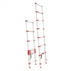 Фото - Лестница алюминиевая телескопическая 8 ступ. 2,60 м INTERTOOL LT-3026