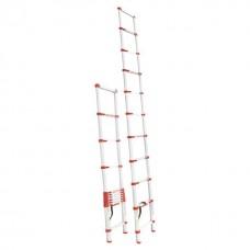 Фото - Лестница алюминиевая телескопическая 10 ступ. 3,20 м INTERTOOL LT-3032