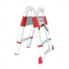 Фото - Лестница алюминиевая телескопическая раскладная универсальная 12 ступ., 3,85 м INTERTOOL LT-3039