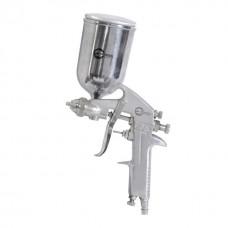 Фото - Краскопульт пневматический HP, форсунка 1.5мм, верхний металлический бачок 400мл., 5бар INTERTOOL PT-0202