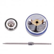Фото - Комплект форсунки 1.3мм для краскопультов HVLP II PT-0100, РТ-0105, РТ-0105D (дюза, воздушная головка, игла) INTERTOOL PT-2113