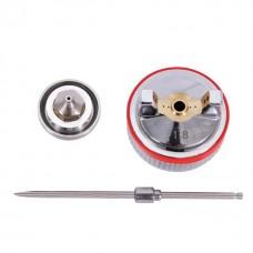 Фото - Комплект форсунки 1.8мм для краскопультов HVLP II PT-0100, РТ-0105, РТ-0105D (дюза, воздушная головка, игла) INTERTOOL PT-2118