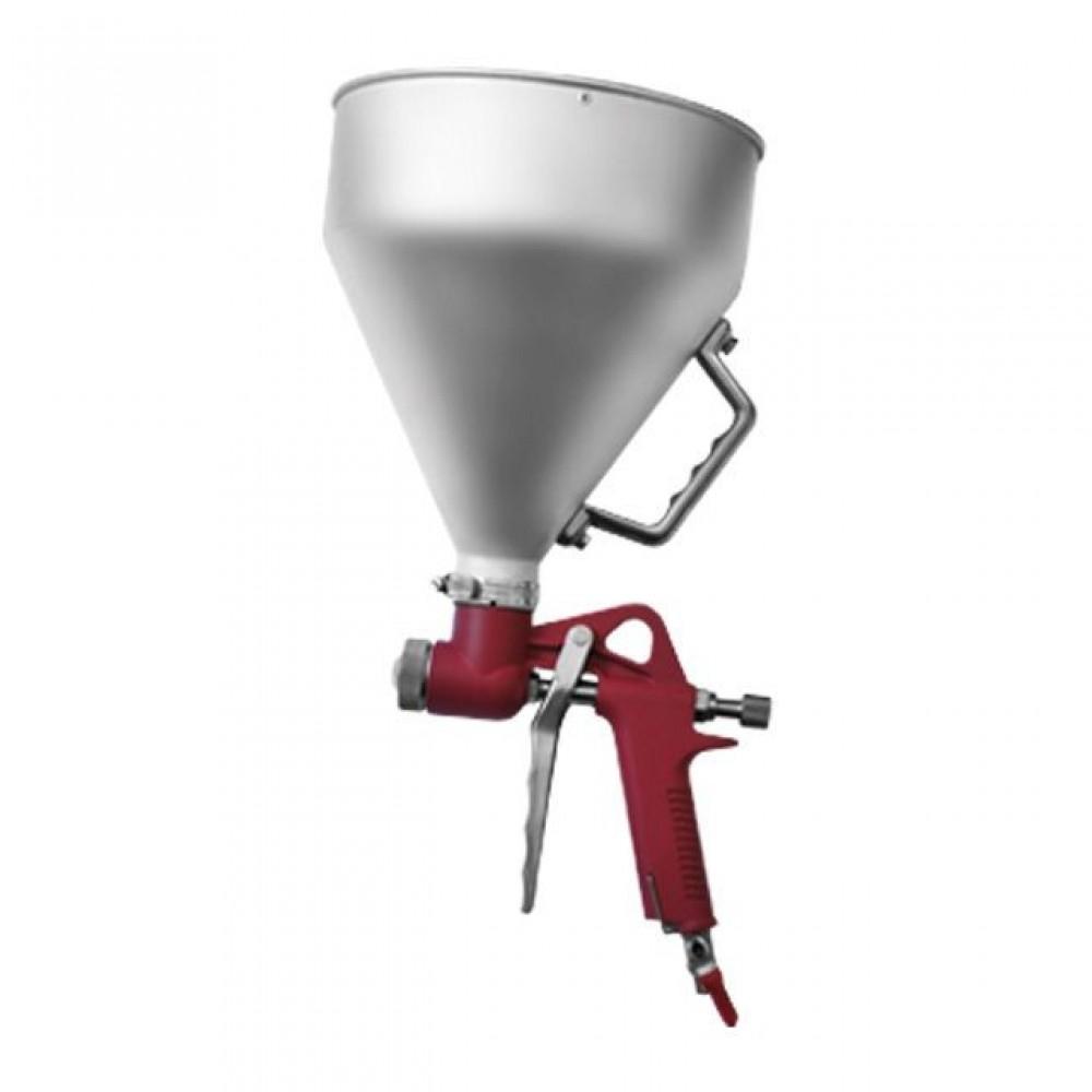 Фото №1 - Штукатурный распылитель, три форсунки 4;6;8 мм, В/Б металлический, 6000 мл, 3-6 b INTERTOOL PT-0401