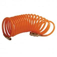 Фото - Шланг спиральный с быстроразъемным соединением 5 м INTERTOOL PT-1703