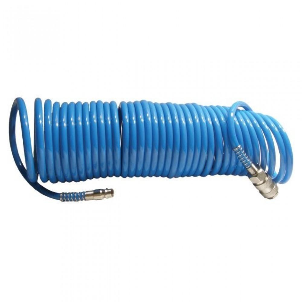 Фото №1 - Шланг спиральный полиуретановый 5,5 x 8 мм, 5 м INTERTOOL PT-1706