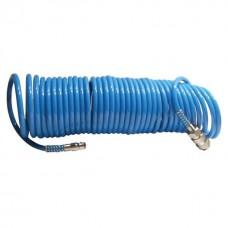 Фото - Шланг спиральный полиуретановый 5,5 x 8 мм, 15 м INTERTOOL PT-1708