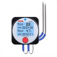 Фото - Термометр цифровой для барбекю 2-х канальный Bluetooth, -40-300°C WINTACT WT308A