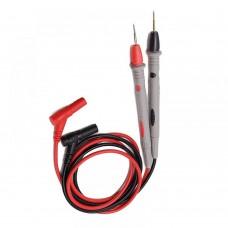 Фото - Шнуры мультиметра с серыми щупами, 20А, 4мм, силиконовый кабель (пара)
