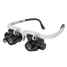 Фото - Лупа-очки бинокулярная Zhongdi NO.9892H-3 с LED подсветкой, 6X 8X 10X 15X 20X 25X