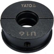 Фото - Насадка для пресс-клещей YT-21750 YATO: U16 мм